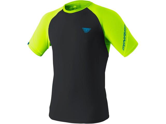 Dynafit Alpine Pro T-Shirt À Manches Courtes Homme, noir/jaune